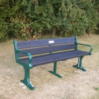 Jubilee bench in the park
