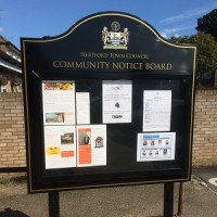 Notice board on The Avenue