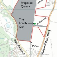 Quarry proposal map