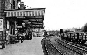 Hertford North station looking west before March 1906. Copyright photo from John Alsop collection.