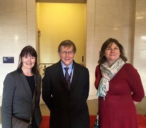 Brenda Heninghem, Cllr. Andrew Stevenson and Tansy Rothwell