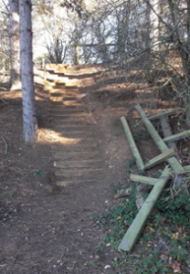 North Heath staircase before
