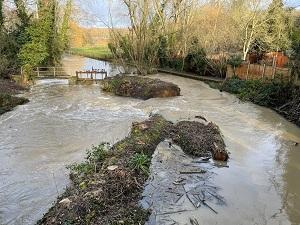 River bank breach