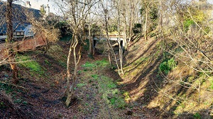 Disused railway path